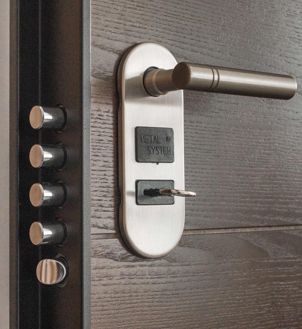 Vista puerta de acceso de seguridad